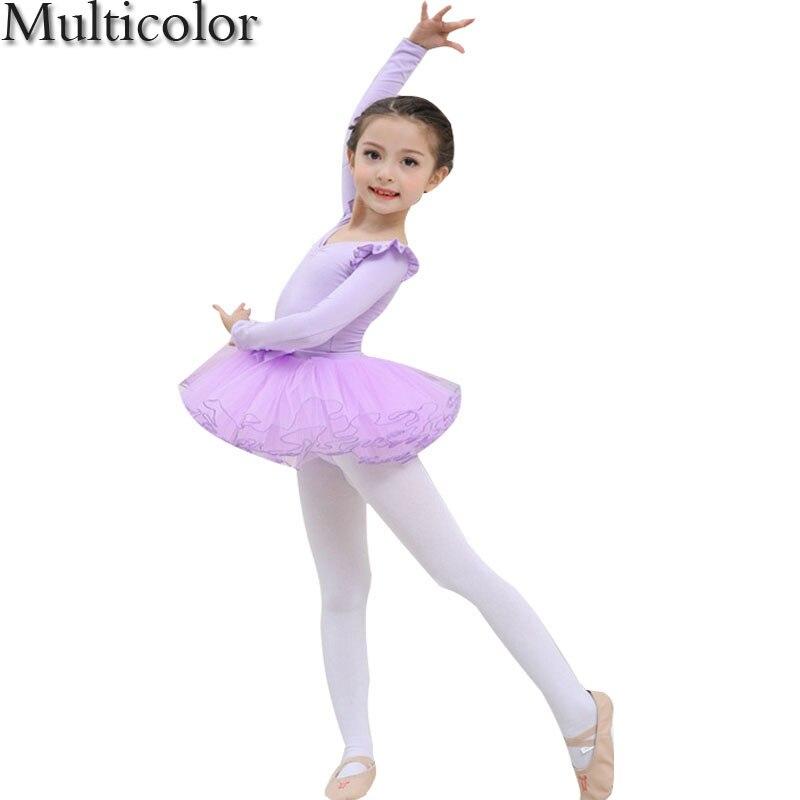 Multicolor 2018 New summer dress for girls Lace Long sleeves Dress Child Girls Kids Latin Dresses Girls Dance Costumes vestidos
