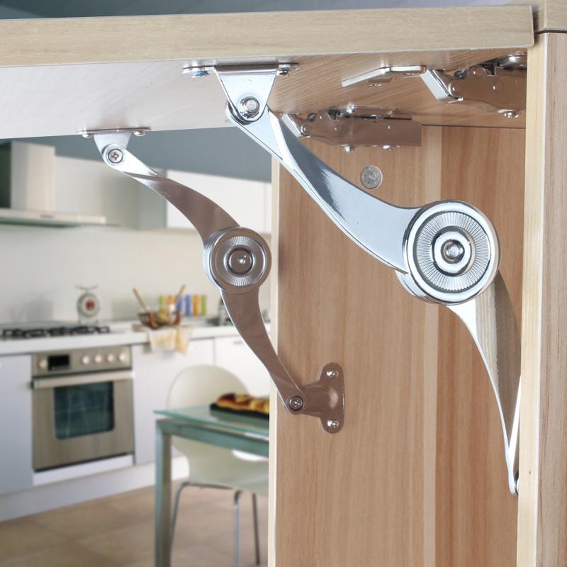 Dobradura da dobradiça do apoio da tampa liga de zinco cromado tampa ficar dobradiça resistente para a porta do armário (um par)