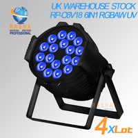 NO TAX UK STOCK Hex 18*18 W Ad Alta Luminosità 6IN1 RGBAW UV di Alluminio HA CONDOTTO LA Luce Par LED Par64 proiettore Della Fase Della Discoteca del Partito di Evento