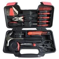 39 pcs Mão Conjunto de Ferramentas Kit de Ferramentas de Reparo Doméstico Geral Caixa De Armazenamento De Acessórios caixa de Ferramentas Martelo Alicate chave de Fenda Ferramenta de Hardware|Conjuntos ferramenta manual| |  -