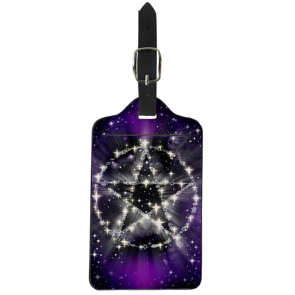 Thikin Galaxy Pattern Luggage Tag Women Travel Accessories PU Suitcase ID Address Holder Baggage Boarding Tag Portable Label