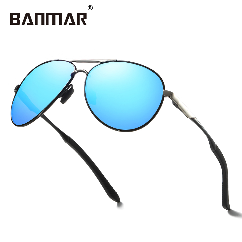 Banmar Brand Design Sunglasses Men Male Polarized Sunglasses Driving Vintage Pilot Square Frame Oculos Goggles Gafas Uv400 563