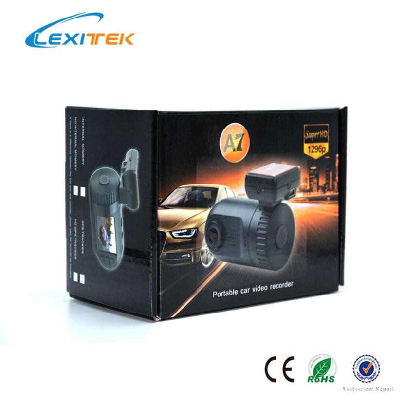 Lexitek Mini 0805 Voiture DVR Caméra Dash Cam Dash Caméra noir Boîte Ambarella A7LA50 Puce Super FHD 1296 P Avec GPS Logger