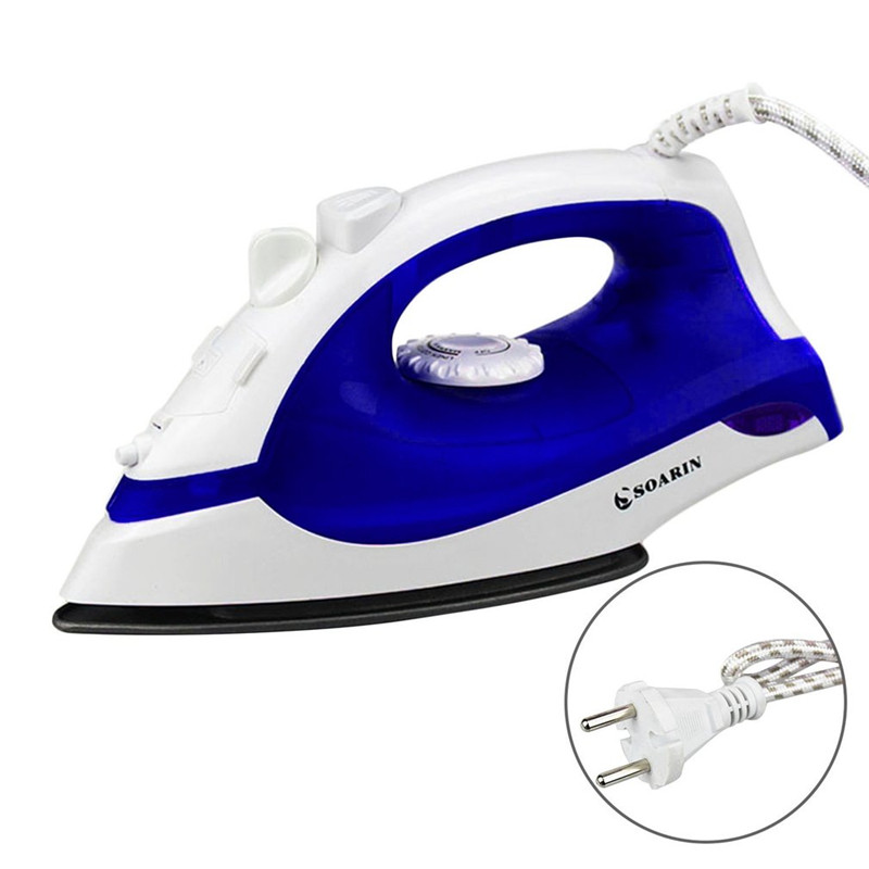 Kitchen & Home Purple Clothes Mini Electric Steam Iron For Clothes Portable Compact Non Stick Irons