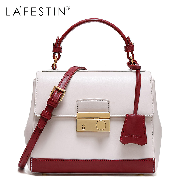 LAFESTIN Brand Women Handbag Hit Color Shoulder Bags Luxury Handbags Women Bags Designer brand Crossbody Bag bolsa feminina free shipping glass door lock security lock house ornamentation door hardware lock stainless steel lock