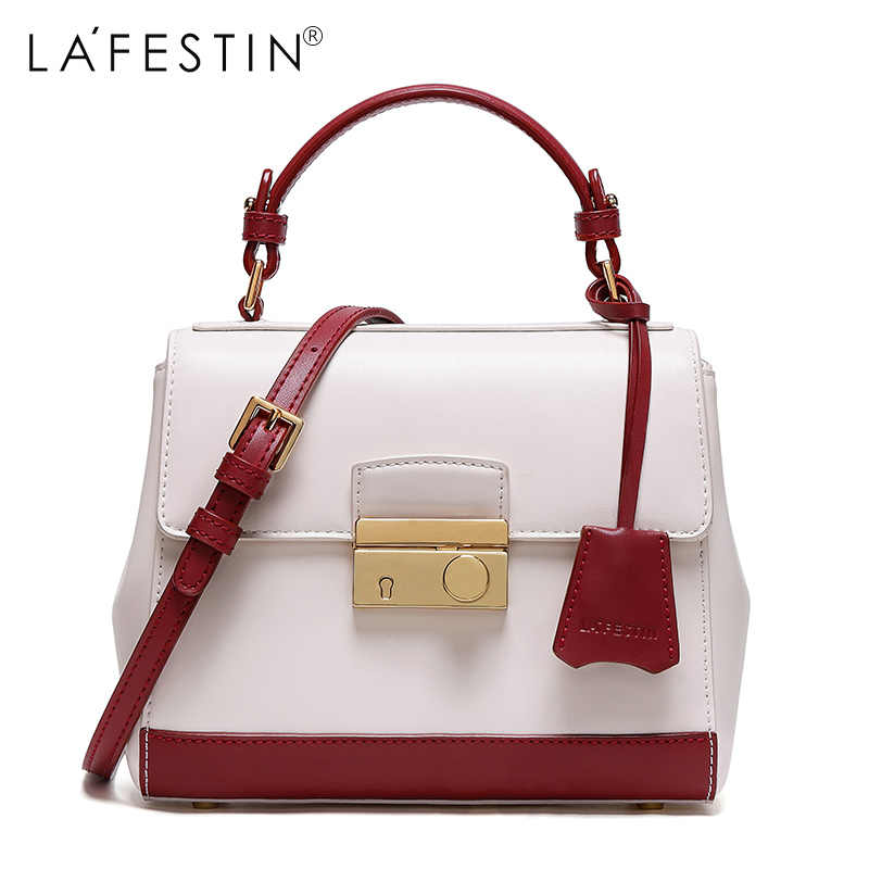 LAFESTIN Brand Women Handbag Hit Color Shoulder Bags Luxury Handbags Women  Bags Designer brand Crossbody Bag dd0cf564a07a7