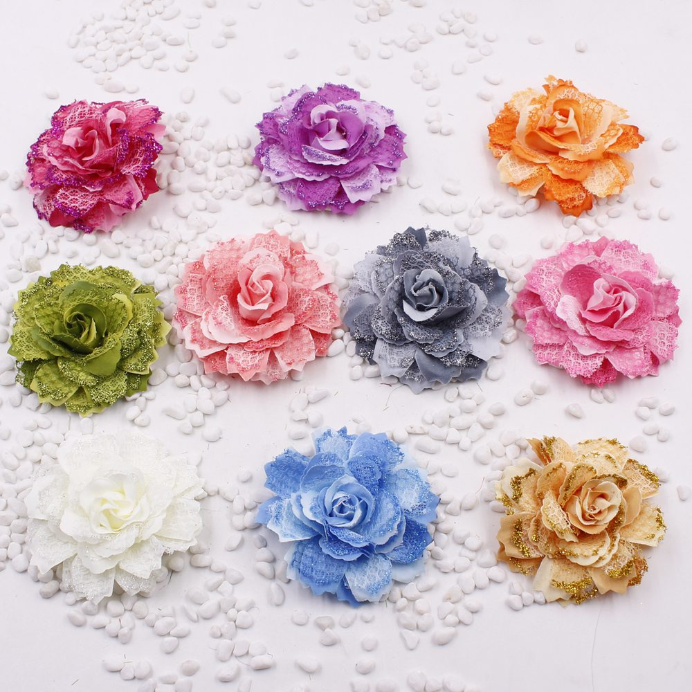 Cheap Price 2pcs/lot Large Silk 10 Color Fire Rose Artificial Flower Head For Wedding Decoration Diy Garland Decorative Floristry Fake Flow To Be Highly Praised And Appreciated By The Consuming Public Home & Garden