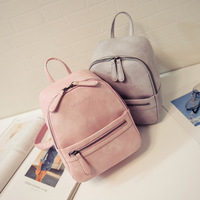 Women Backpack New Arrived Fashion Casual PU Ladies Backpacks Candy Color Korea School Style Solid Student