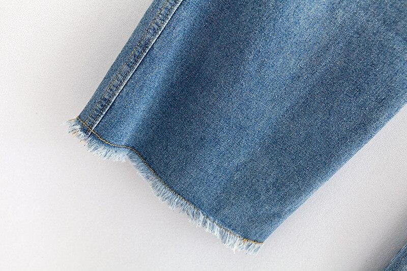 F42 Autumn Winter Plus Size Women Clothing Ankle-length Jeans 4XL Casual Fashion Loose Denim wide leg Pants 8048 6