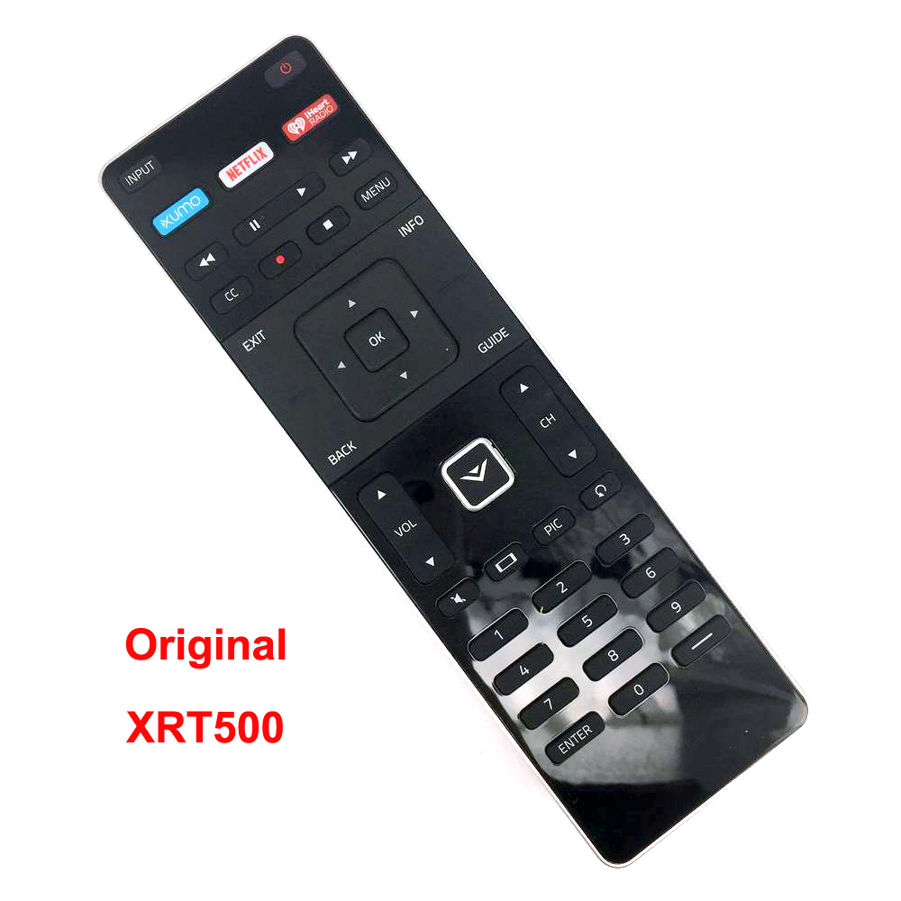 New Original XRT500 For Vizio TV Remote Control With XUMO NETFLIX iHeart RADIO Apps M43-C1 M55-C2 M60-C3 M322I-B1 RS65-BL image