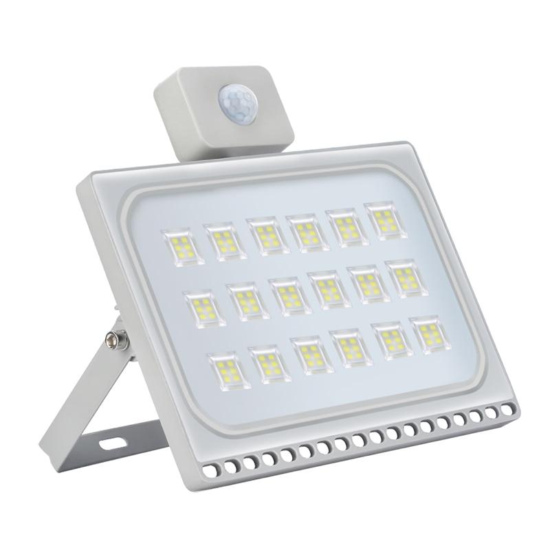 1PCS Ultrathin Motion Sensor Led Flood Light 100W 110V 220V 8000LM Waterproof IP65 Led Floodlights Spotlight Outdoor Lighting