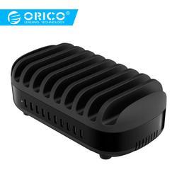 ORICO 10 Porte USB Charger 120 W 5V2. 4A Smart Professionale Stazione di Ricarica Dock con il Supporto Del Basamento per Il Iphone 7 6 s Accumulatori e caricabatterie di riserva