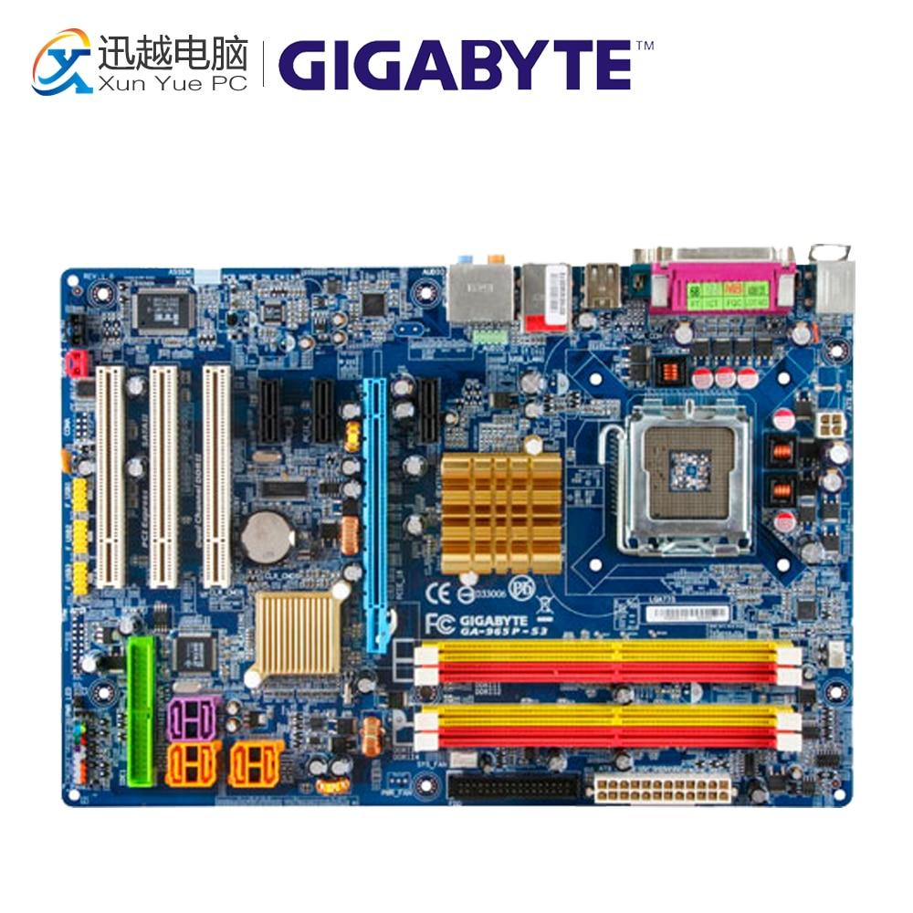 Gigabyte GA-965P-S3 Desktop Motherboard 965P-S3 P965 LGA 775 DDR2 SATA2 ATX gigabyte ga 965p s3 desktop motherboard 965p s3 p965 lga 775 ddr2 sata2 atx