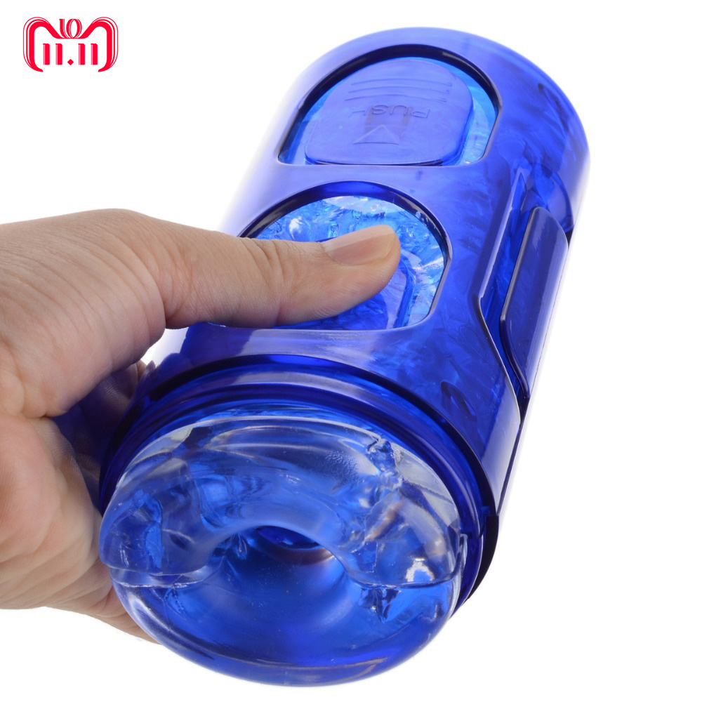 Crystal Masturbator Cup,Strong Suction Pocket Pussy Toys Men Aircraft Cup Delay Spray Time Trainers For Male Masturbation pocket pussy masturbation cup aircraft cup simulation real pussy vagina strong suction male masturbator adult set toys for men