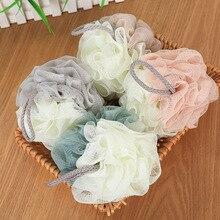 Kolifu wholesale multicolor Loofah Bath Ball Mesh Sponge Bathroom Supplies PE Flower Super Soft parquet bath flower