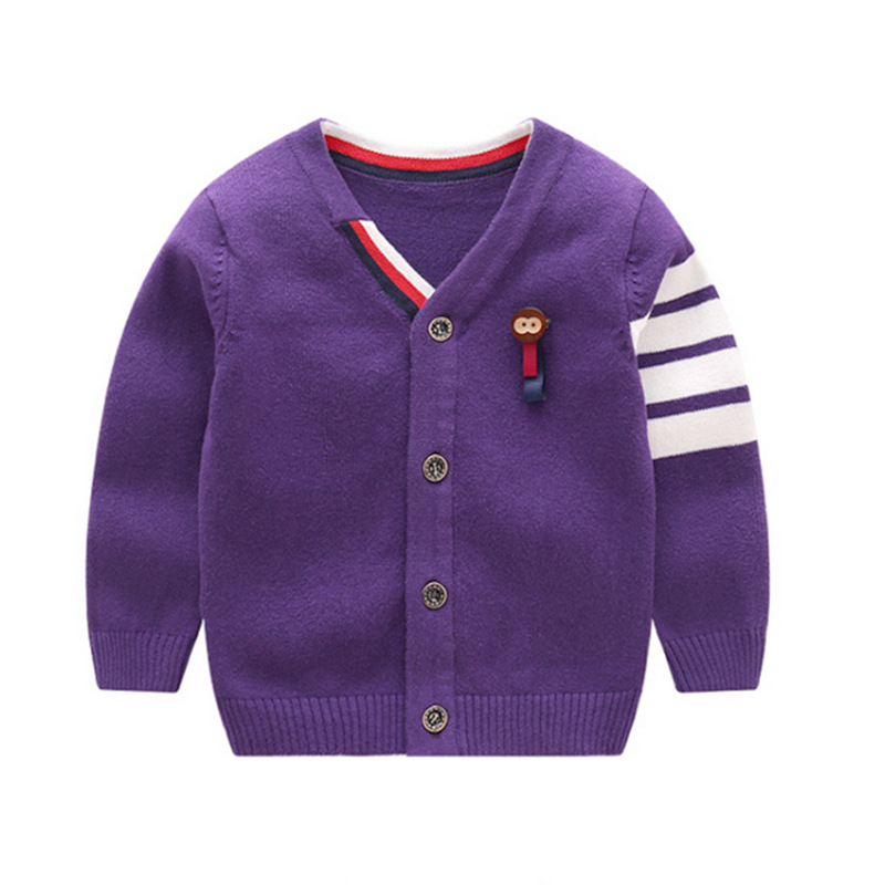 Warm Boys Sweaters Long Sleeve Newborn Sweaters With Monkey Knit Cotton Baby Cardigan Sweater Autumn Winter Baby Boys Clothing