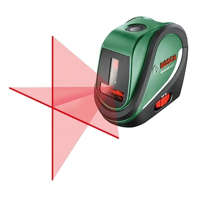 Лазерный уровень Bosch Universal Level 2 Set (проекция вертикаль, горизонталь, крест. штатив)