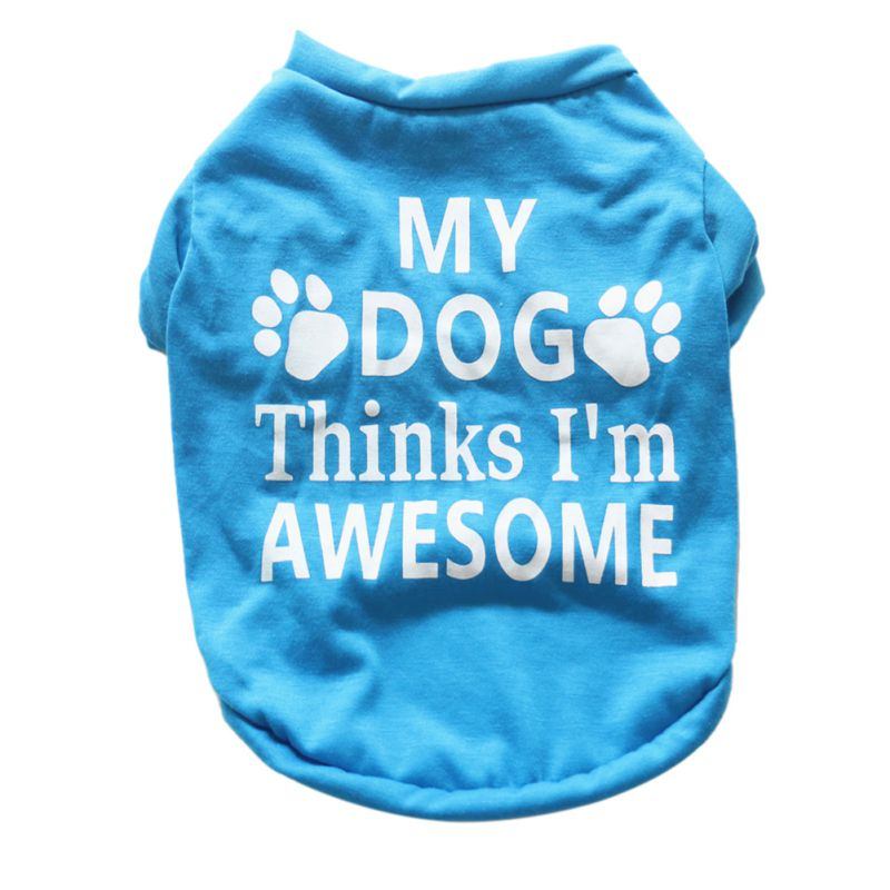 Pet Small Dog Vest Shirt Clothes Puppy shirt clothing Letter Printed Autumn roupa cachorro For Dog Pet Accessories Clothes