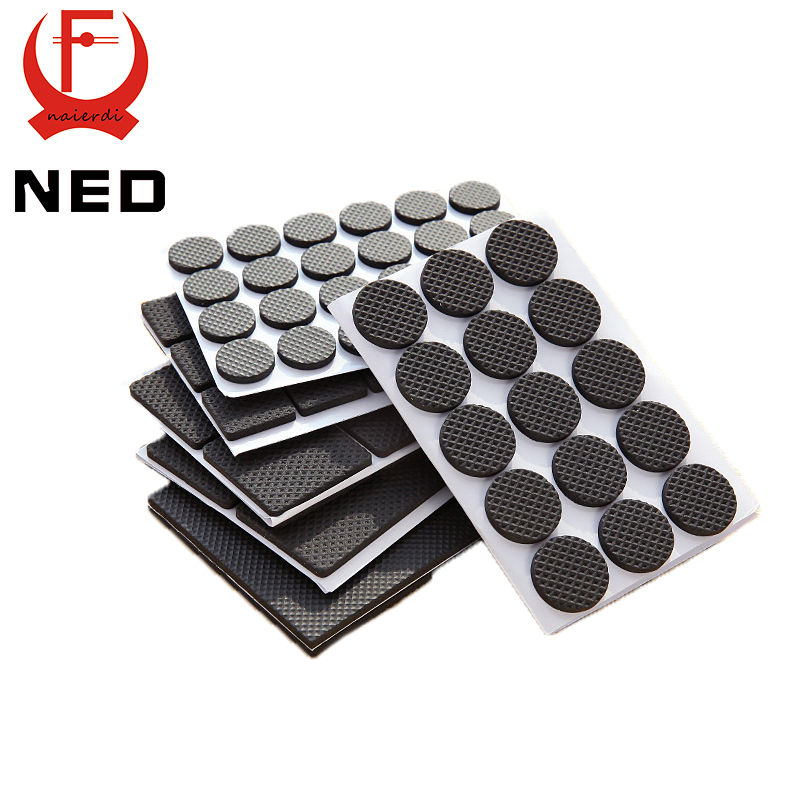 Hot selling 1 24pcs self adhesive furniture leg feet non slip rug felt pads anti slip