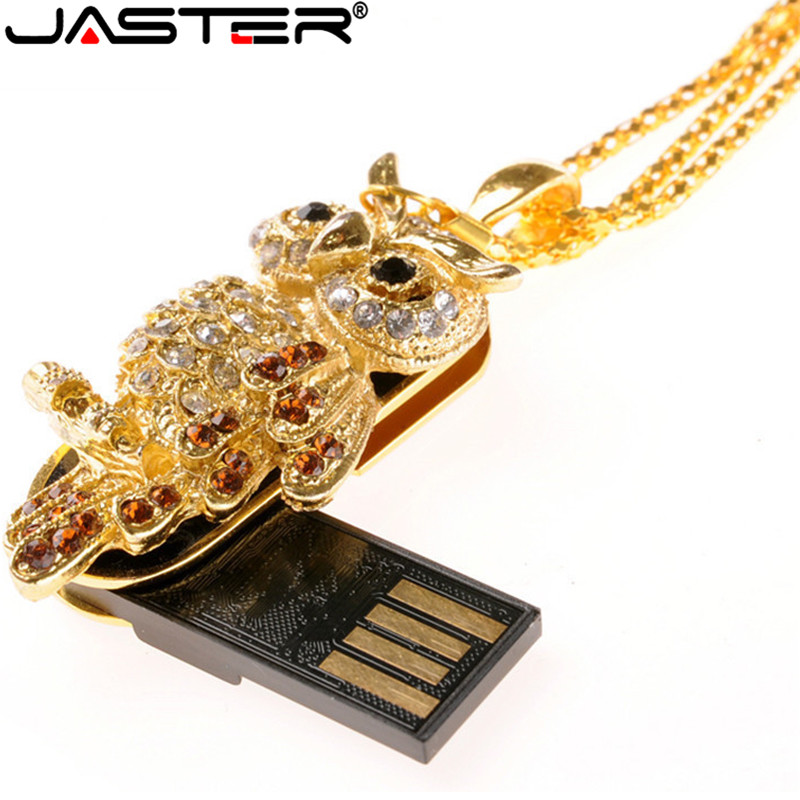 Computer & Office Jaster Pen Drive Metal Keychain 64gb 32gb 16gb 8gb 4gb Crystal Owl Usb Flash Drive Pendrive Waterproof Usb Stick Hot 2019 Latest Style Online Sale 50% Usb Flash Drives