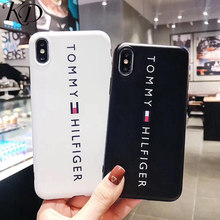 0abeef6b Tide US Brand Off Simple White Tommy Letter Couple Sport Styles Phone Case  for iPhone 6