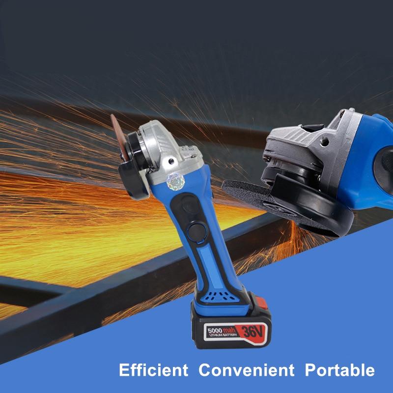 36v juhtmeta nurklihvija 1PC liitiumakuga laetav lihvimismasin aku - Elektrilised tööriistad - Foto 4