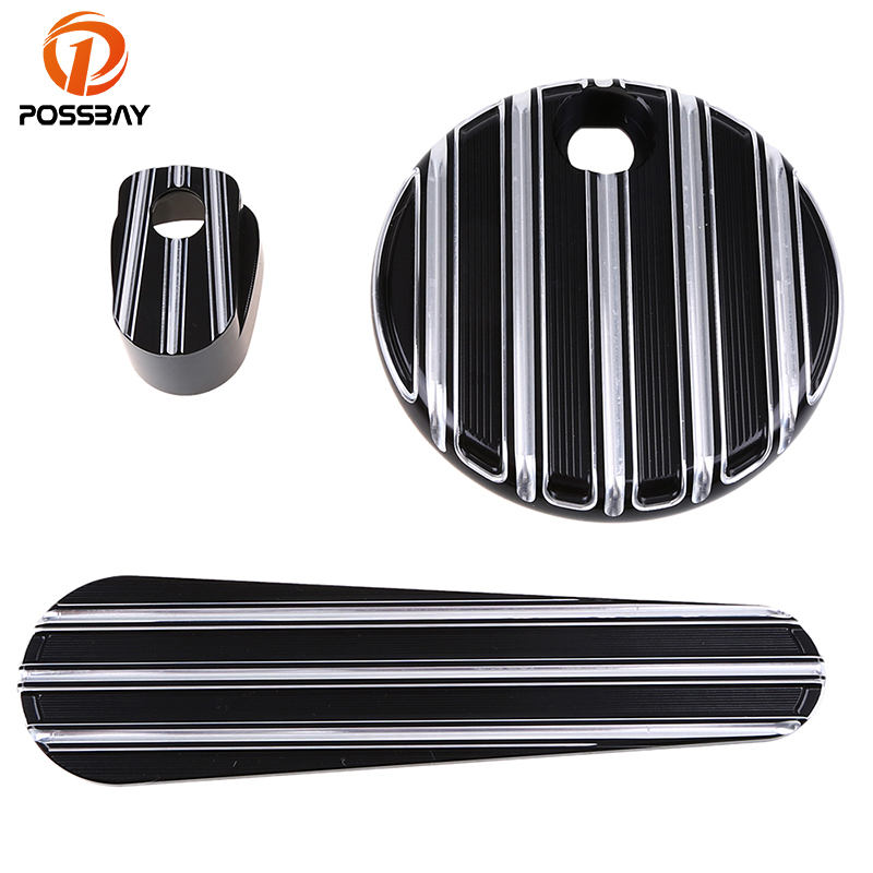 Motocross Deep Cut Motorcycle Dash Insert Ignition Switch Fuel Door Cover for Harley Electra Road Glide 2014 2015 2016 2017 rpmmotor black deep cut fuel tank door dash track insert ignition cap for harley 14 up