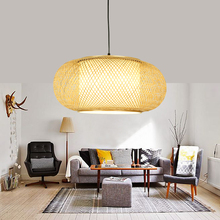 japanese Bamboo Pendant lights Lantern lighting for Aisle Home living room bedroom vintage cafe shop round haning light Fixtures new chinese pendant lights bamboo lantern japanese restaurant pendant lamp handmade bamboo lantern fixtures cafe decor lignting
