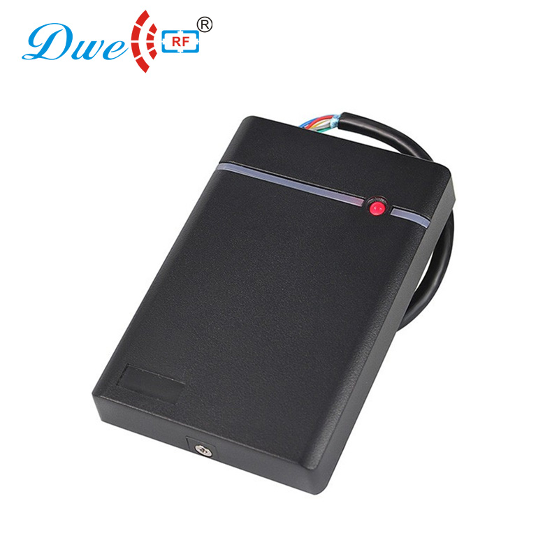 DWE CC RF access control card reader RS232 / RS485 door access IP 66 proximity card reader with black color dwe cc rf access control card reader tcp ip communication door access card reader smart chip card readers with password