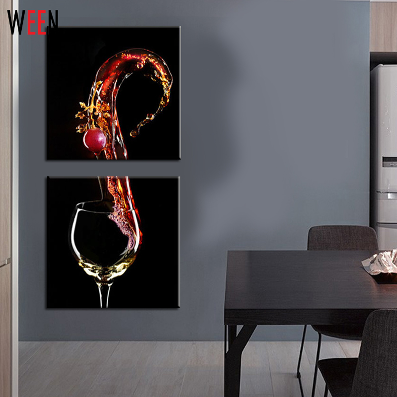3 Panels Home Decor Wall Decorative Frameless Canvas Printing Wine Gl Picture On Art Living Room Peinture In Painting Calligraphy From