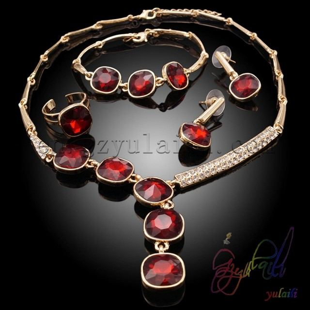 Online Shop Yulaili Italian Gold jewelry Sets Semiprecious Stones