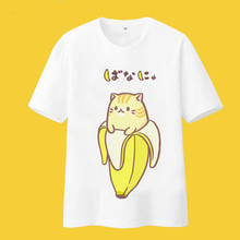 Bananya cosplay t-shirt Bananas Cat lurking in bananas men tshirt summer cotton Tees Tops New Japan Anime