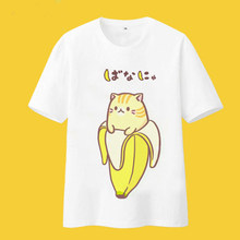 240431c8c Bananya cosplay t-shirt Bananas Cat lurking in bananas men tshirt summer  cotton Tees Tops