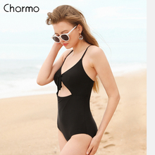 Charmo One-Piece 2019 new Monokini Womens Swimsuit Hollow-Out Swimwear Backless Bathing Suit Bow-Knot Suits