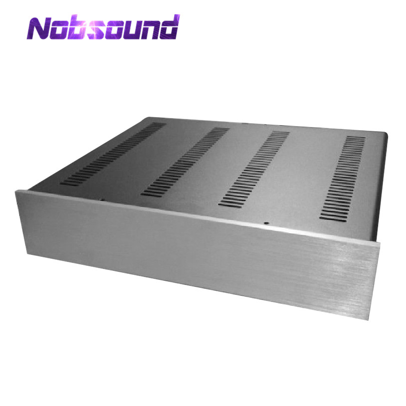 Nobsound Hi-End Preamplifier Chassis Power Amp Enclosure DAC Cabinet Headphone Amp Case stylish scoop neck long sleeve chevron stripe slimming women s t shirt