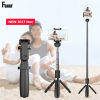 Wireless Bluetooth Selfie Stick Universal 3 In 1 Mobile Phone Tripod Bracket For IPhone Mini Extendable