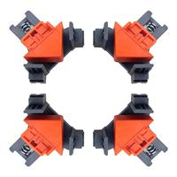 4Pcs/Set Corner Right Angle Clamps Woodworking DIY Corner Clip Fixer For Carpenter Wood Picture Frame Woodwork Right Angle Tools