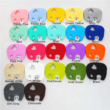 Chenkai 20PCS Silicone Elephant Pacifier Teether DIY Baby Dummy Nursing Chewing Teething Soother Jewelry Mommy toy BPA Free - DISCOUNT ITEM  15% OFF All Category