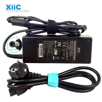XiiC 19V 4.74A AC 5.5*2.5mm 90w Charger Power Supply Laptop Adapter For ASUS Toshiba A46C X43B A8J K52 U1 U3 S5 W3 W7 Z3 F5VZ F8