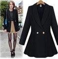 Mujer blazer feminino 2016 mulheres blazers e jaquetas jaqueta feminina plus size veste manche longue femme veste terno preto das mulheres