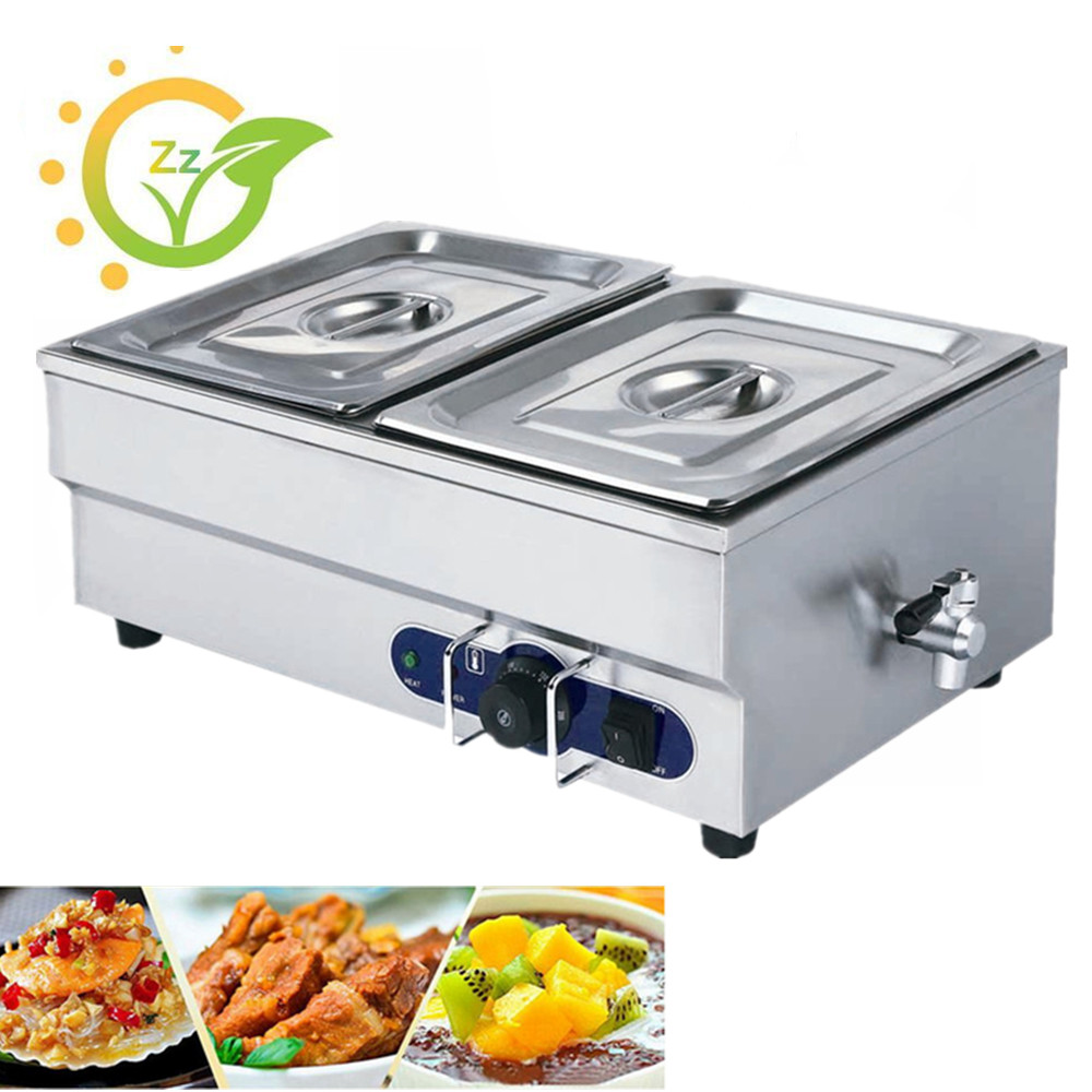 Home Use Commercial Food Warmer Wet Heat Electric Bain MarieStainless Steel Countertop Buffet Equipment