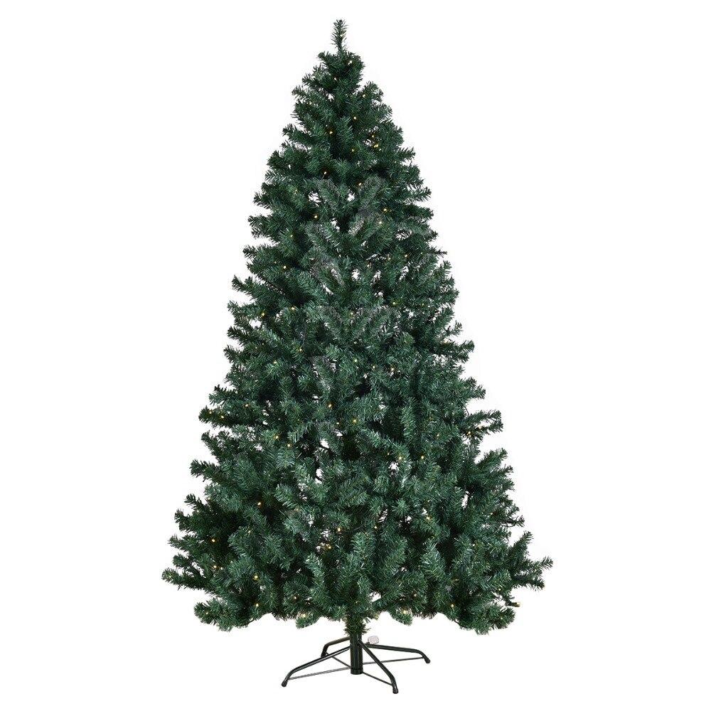 210 cm Arbol de Navidad verde arbol de decoracion yapay del abeto PVC/PE con LED iluminacion210 cm Arbol de Navidad verde arbol de decoracion yapay del abeto PVC/PE con LED iluminacion