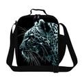 Animais Leopardo Tigre Impressão Pequenos Sacos de Almoço Para Homens Isolados leão Sacos de Comida Lancheira Estudante Crianças Picnic Tote Sacos Bolsos