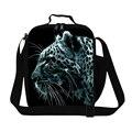 Tiger Leopard Animal Print Pequeñas Bolsas de Almuerzo Para Los Hombres Aislados león Bolsas de Alimentos Lonchera Estudiante Niños de Picnic Bolsas de Mano Bolsos