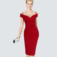 Sexy Summer Vacation Fashion Solid V Slash Neck Sleeveless Vintage Dress Spaghetti Strap Zipper Gorgeous Sheath