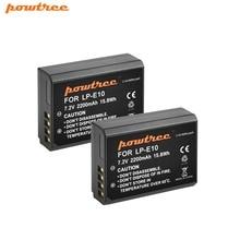 2Packs 7.2V 2200mAh LP-E10 LP E10 LPE10 Digital Camera li-ion Battery AKKU For Canon 1100D 1200D 1300D Rebel T3 T5 KISS X L15