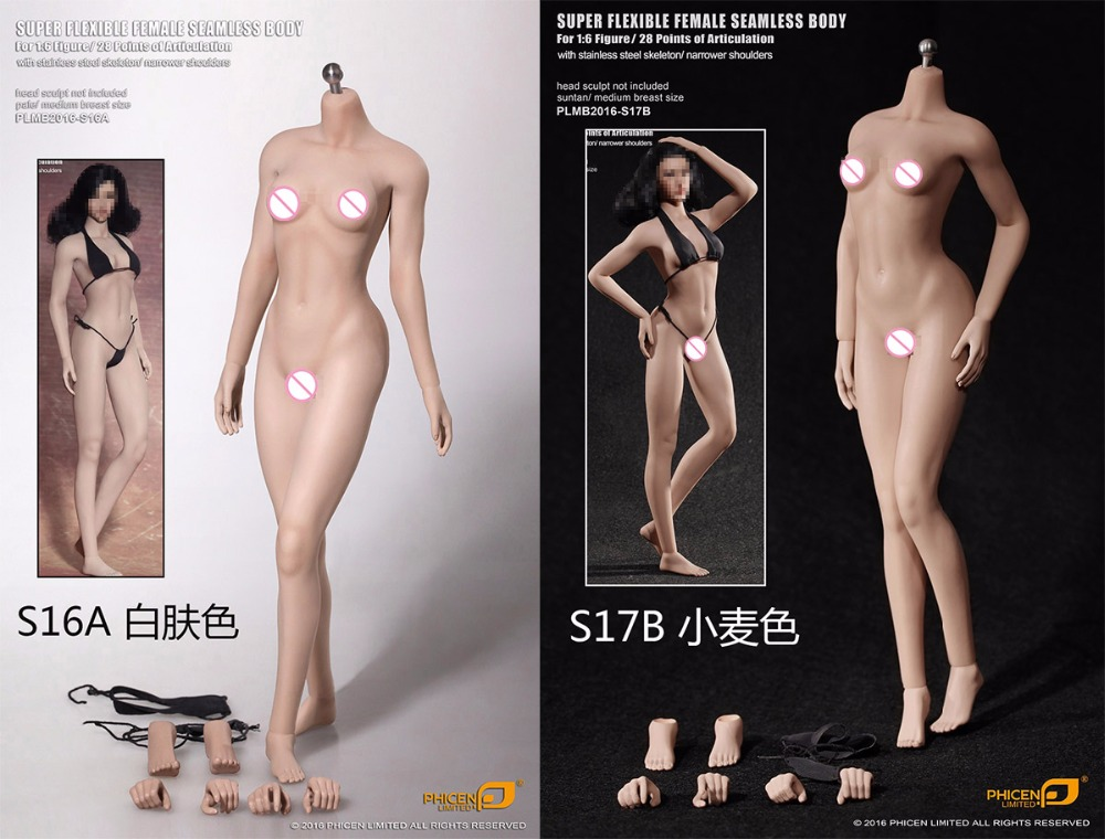1/6th figure doll accessories female Narrow shoulder seamless body in Middle bust for 12 action figure doll,not include head female head teachers administrative challenges in schools in kenya