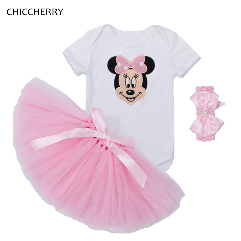 3b65e3270 Pink Minnie Baby Girl Dress Toddler Birthday Tutus Outfits Infant ...