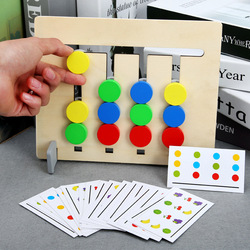 Montessori materiais brinquedo quatro cores cores do jogo e frutas dupla face correspondência jogo lógico raciocínio formação brinquedos para o bebê