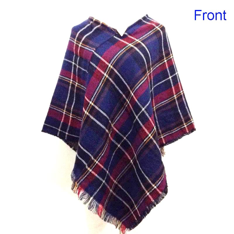 Women Fashion Plaid Tassel Blanket Shawl Scarf Poncho and Capes Casaco Feminino OInverno For Girls Summer
